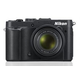 "NIKON PhotoCamera  CoolPix P7700 black 12.2Mpix Zoom7.1x 3"" 1080p 86Mb SDHC CMOS 1x1.7 IS opt 2minF turLCD VF 1.3fr/s RAW 24fr/s HDMI EN-EL14"